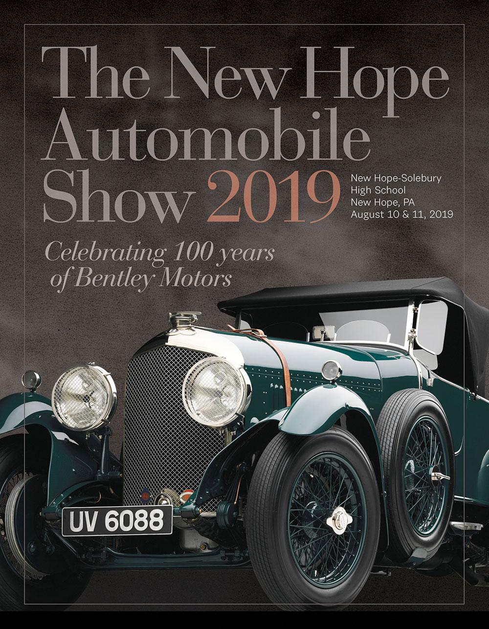 The New Hope Automobile Show 2019 Program book cover