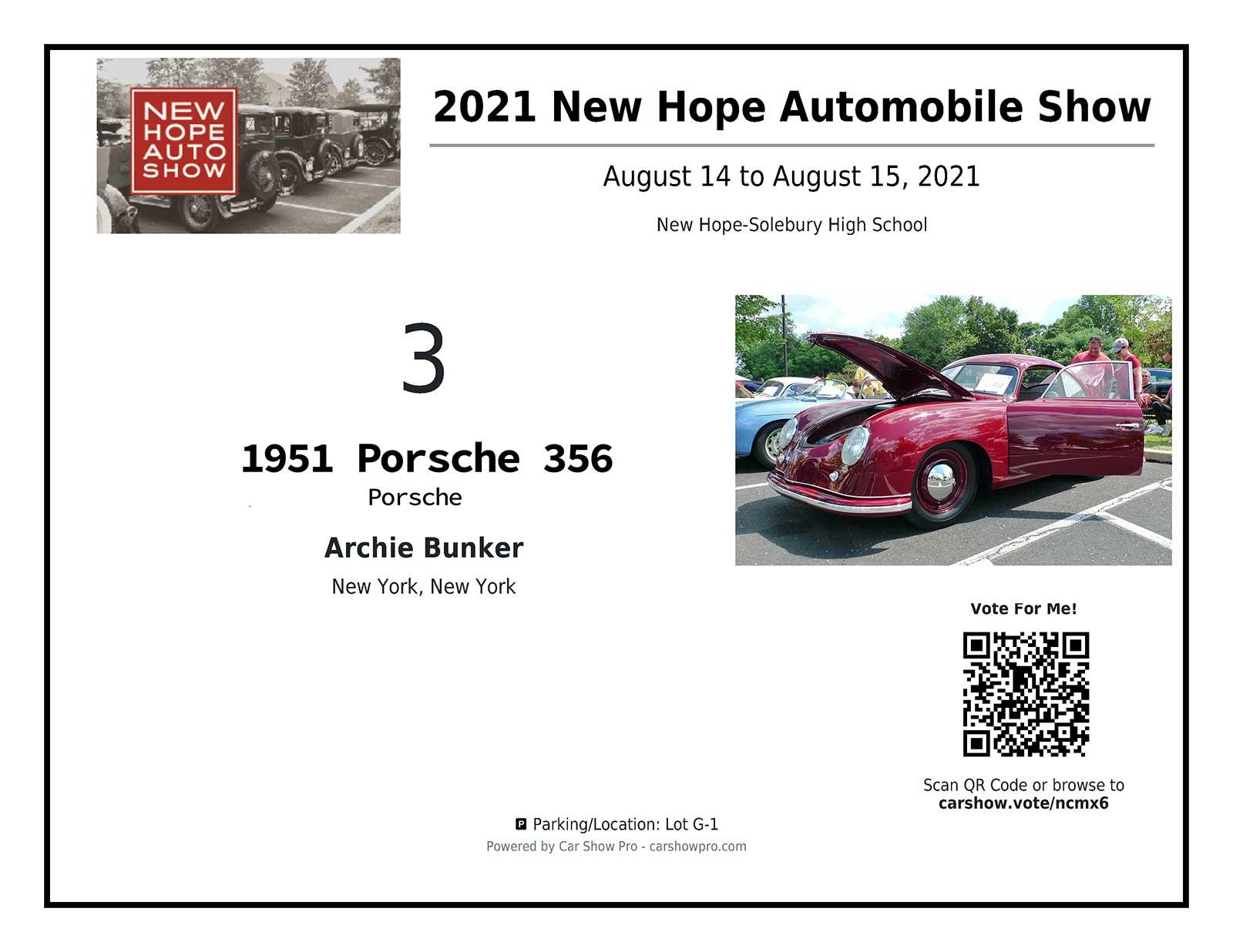 Dashcard Porsche 356 example