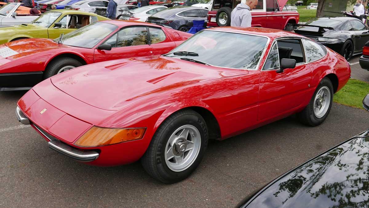 Ferrari Daytona at the New Hope Automobile Show Cars & Coffee in Peddler's Village